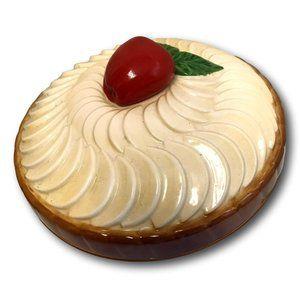 Ceramic Majolica Apple Pie Cover Dessert Storage
